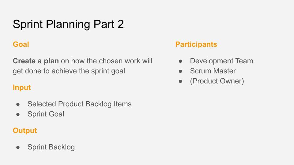 Sprint Planning Part 2 - Cheat Sheet